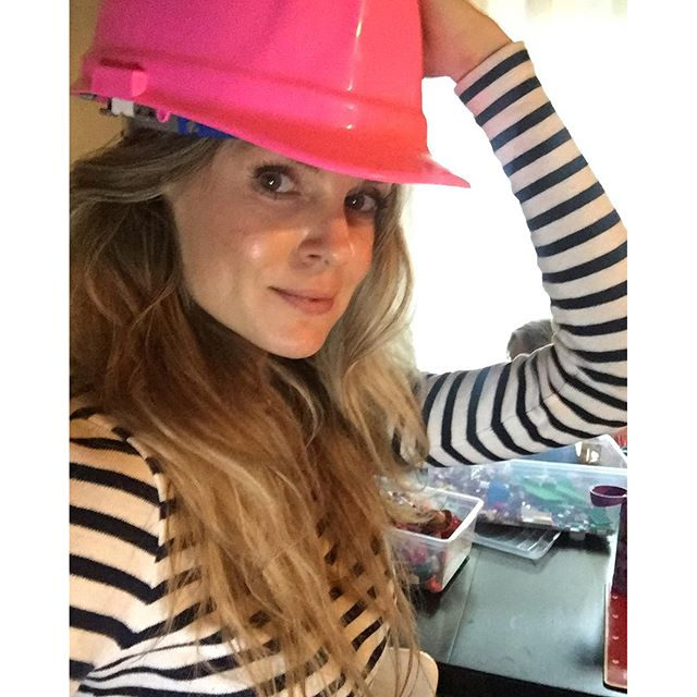My construction hat arrived! Hahaha can't wait to begin micromanaging the construction crew Hahhaha ! Poor souls.