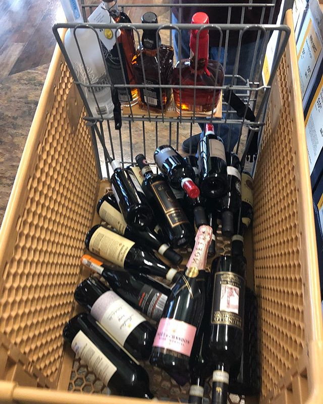 Stocking up 🤣